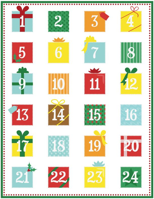 Calendar Number Printables : Printable advent calendar page christmas pinterest
