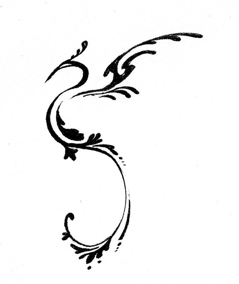 Un Pequeño Diseño Para Tatuaje Tattoos Tattoos Phoenix Tattoo