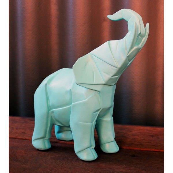 Aqua Origami Elephant - Aqua Homewares Online