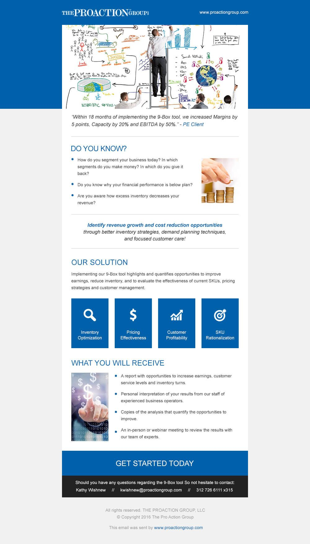 Proaction Group Mailchimp Template