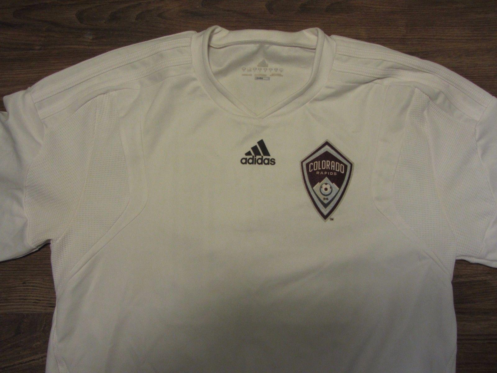 MLS Colorado Rapids Mens Soccer Jersey Adidas ClimaCool White  21 ... 421ba3b6f