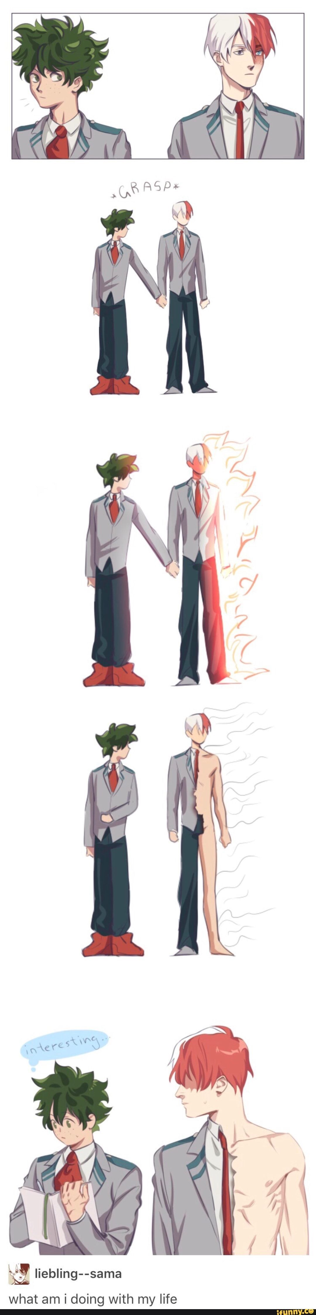 That S So Embarrassing But Cute At The Same Time Todoroki With