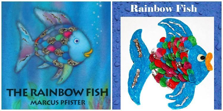 The rainbow fish literacy and activities for preschool for Rainbow fish lesson plans
