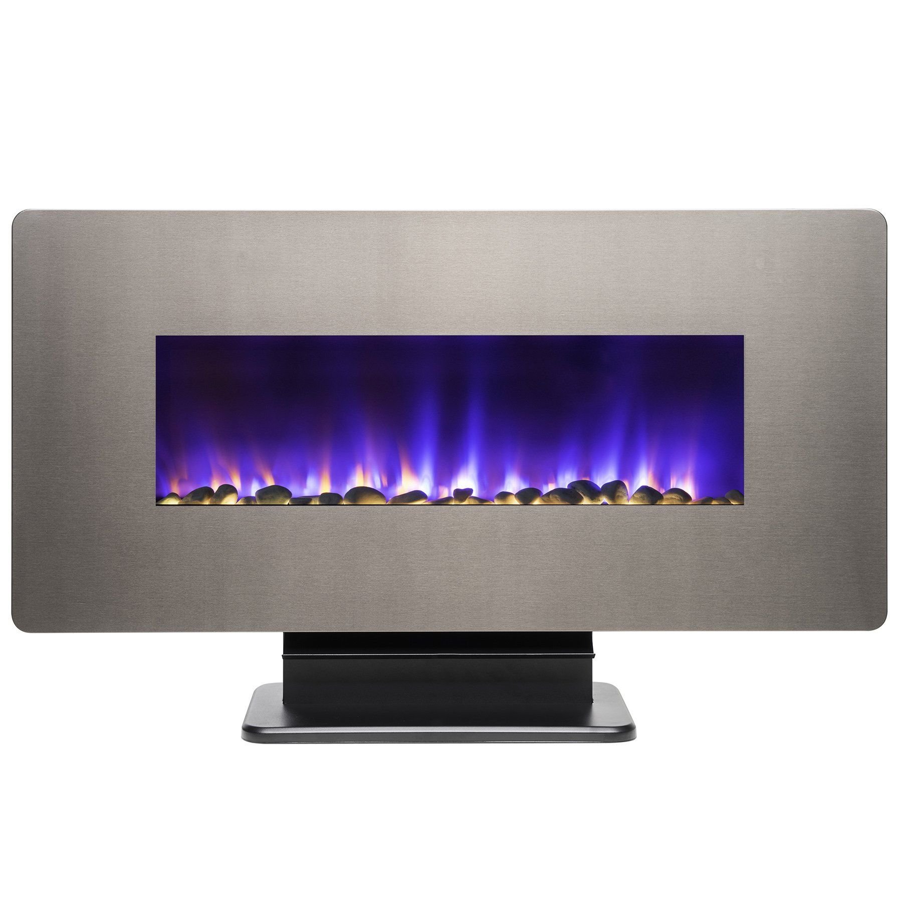 36inch Electric Wall Mount Fireplace Heater W Remote Control And Pebble Read More Reviews Wall Mount Electric Fireplace Wall Mount Fireplace Fireplace Heater