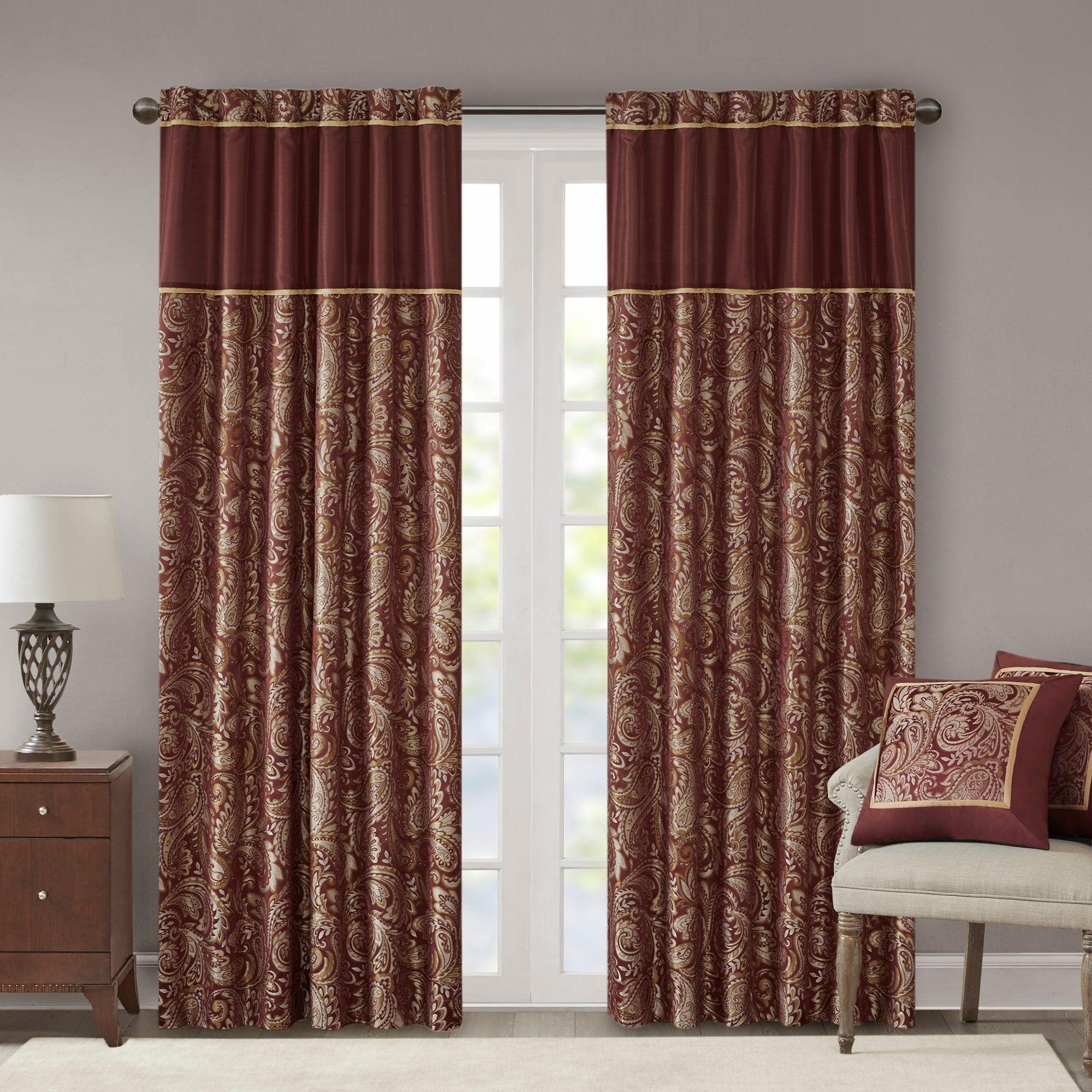 burgundy curtains curtains living room
