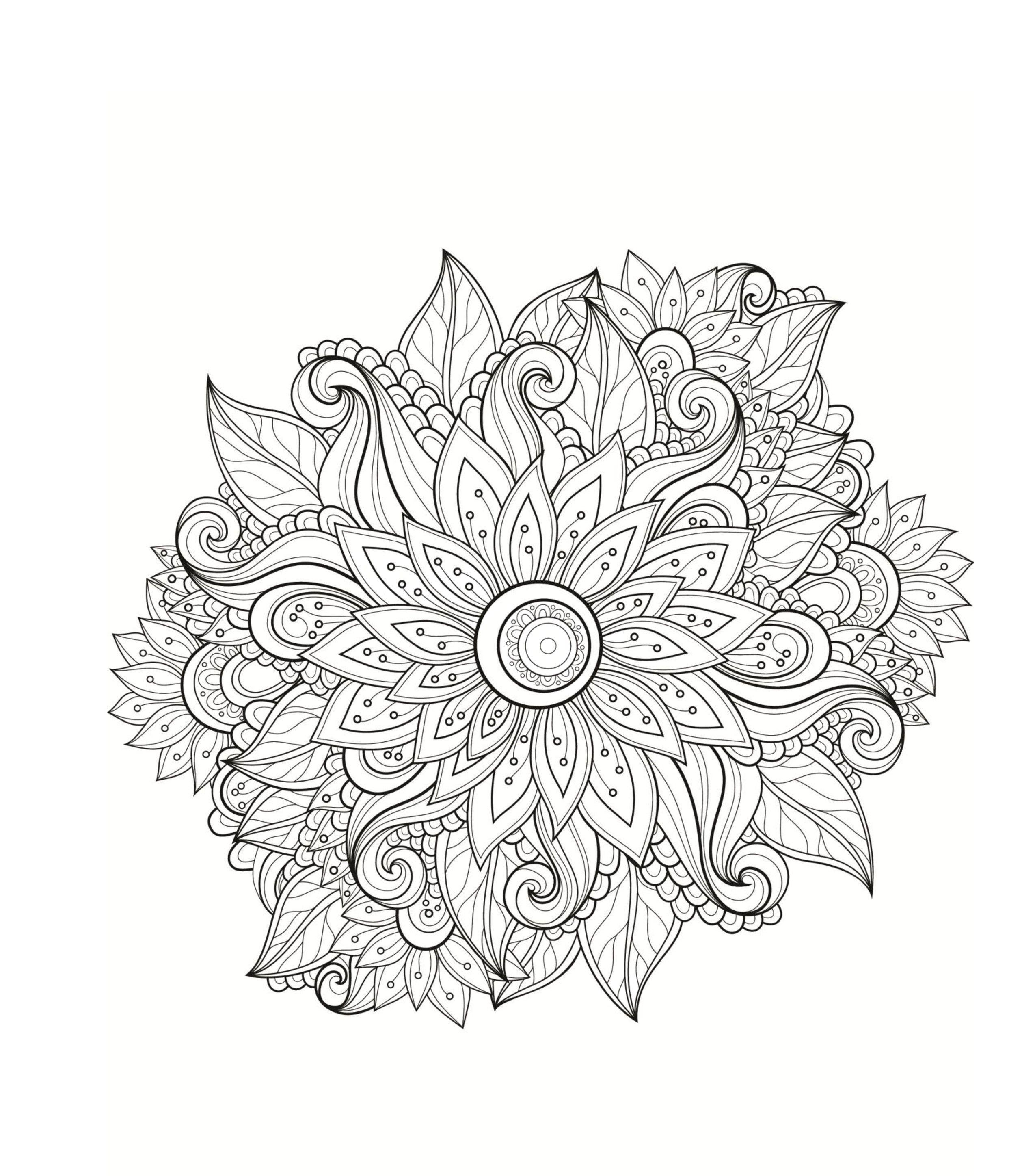 раскраски мандала мандала цветок Coloring Anti