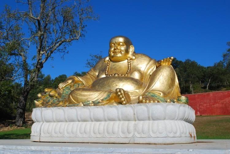 Buddha Eden Garden, Loridos estate - PORTUGAL. Conceived by portuguese magnate Joe Berardo in response to the destruction of the great Bamyan Buddhas.