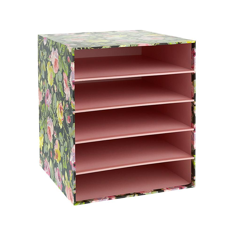 Anna Griffin 12 X 12 Paper Storage Box With Shelves Manualidades Con Papel Higienico Manualidades Creativas Manualidades Recicladas