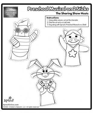 Preschool Musical The Sharing Show Puppets Sprout Sharing Show
