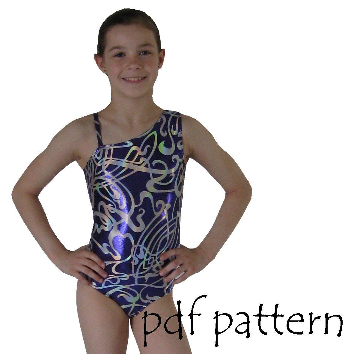 Leotards 3 Sewing pattern gymnastics leotard, ballet jazz dance gym ...