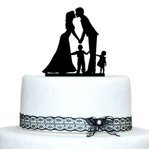 Engagement Wedding Cake Topper Family Children Son Daughter Boy Girl FamilyWedding BlendedFamily