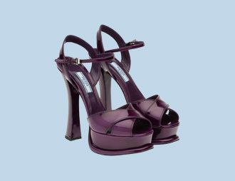 They're purple and they're Prada - what's not to love about these sandals?