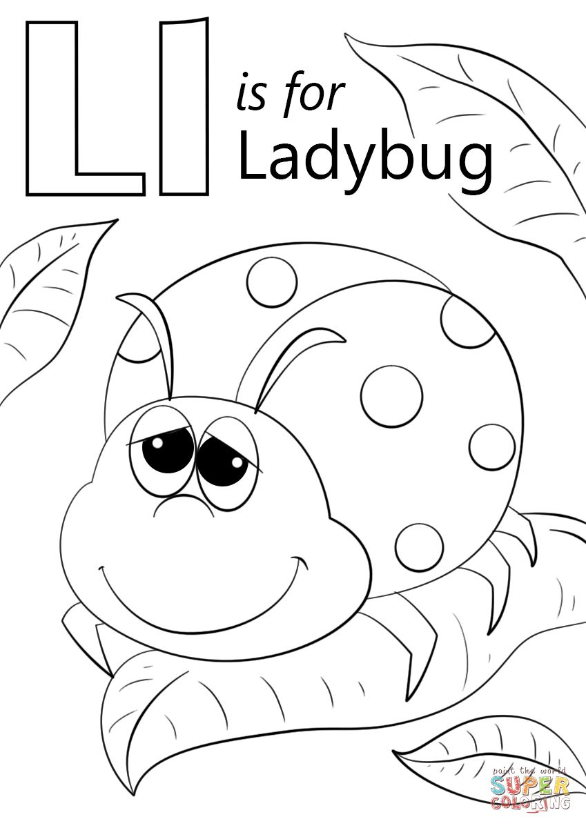 Letter L Coloring Pages Handy Letter L Coloring Page Free