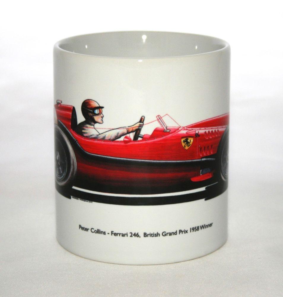 Details About Formula One Mug. Peter Collins, Ferrari 246