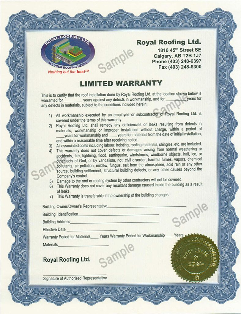 Browse Our Printable Roofing Warranty Certificate Template Roofing Certificate Templates Roof Inspection