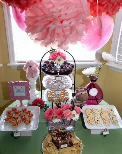 pink girly baby shower party ideas girly babies and. Black Bedroom Furniture Sets. Home Design Ideas
