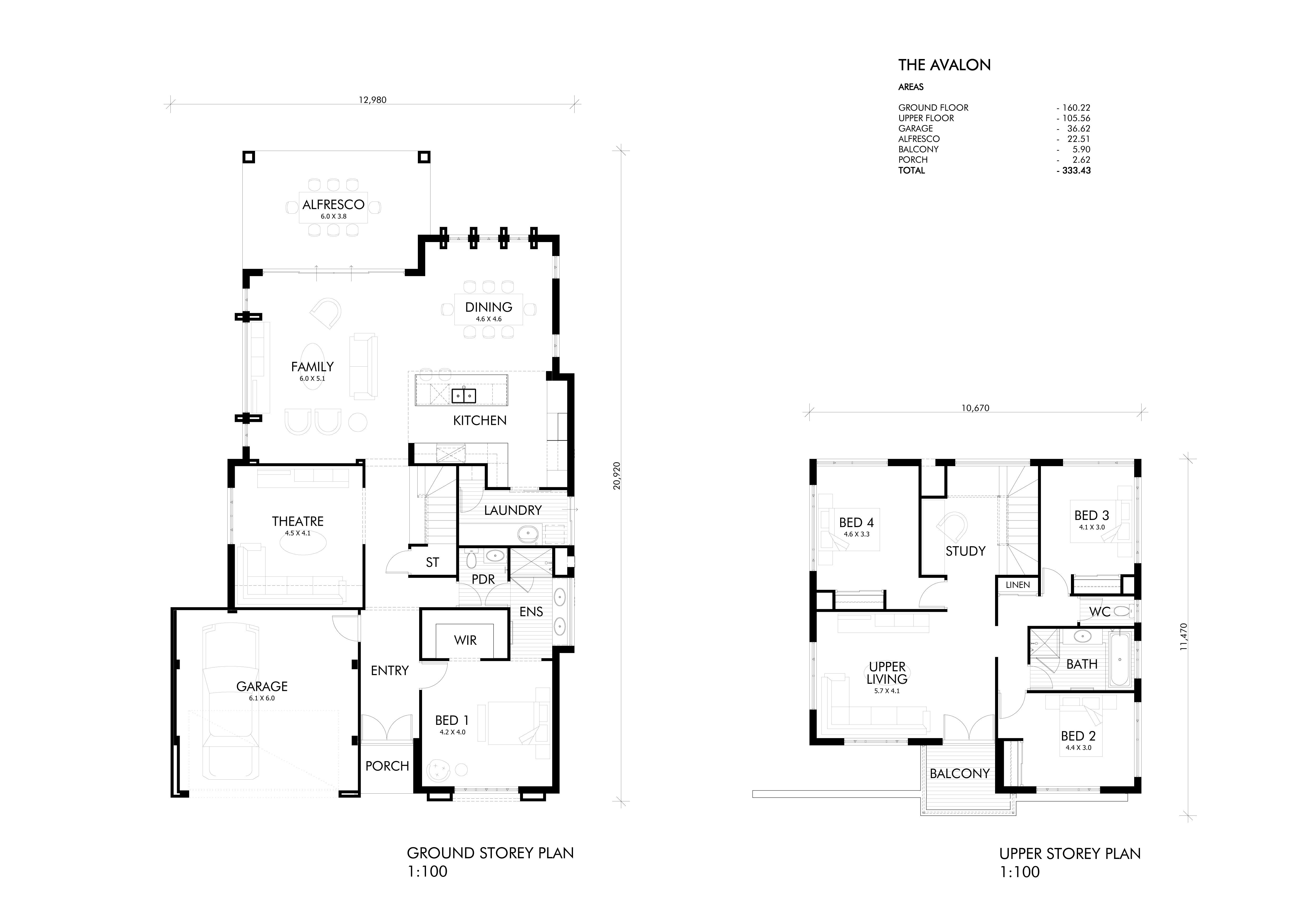 Single & Two Storey Home Designs Perth | Webb & Brown-Neaves | plans ...