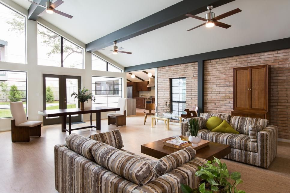 Superb This Modern Living Space Was Brought Back To Life By Opening Up The Floor  Plan And Reconfiguring The Windows And Exterior Doors. A New Cork Floor  Unites The ...
