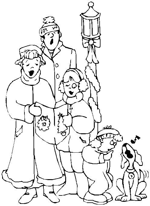 christmas carol coloring pages printable