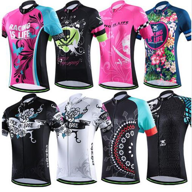 New CHEJI Women Cycling Jersey MTB Bicycle Clothing Outdoor Sportswear Bike  Ciclismo Jerseys Breathable Quick Dry Clothing 6d9f9ee21