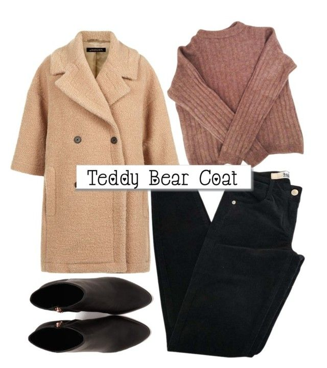 """Teddybear Coat."" by pixiesandstuff ❤ liked on Polyvore featuring Brandy Melville, Jaeger, Acne Studios, White Label, Alexander Wang, denim, anklebooties, SpringStyle, winterstyle and teddybearcoat"