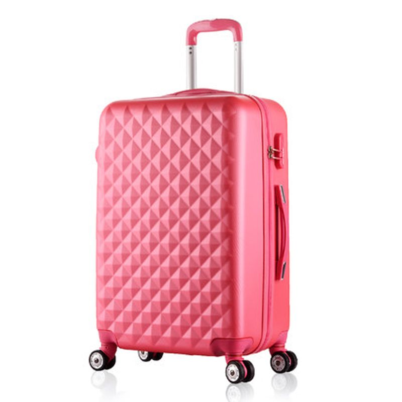 20,24 Inch Woman Travel Case Suitcases,diamond Luggage Travel Bag ...
