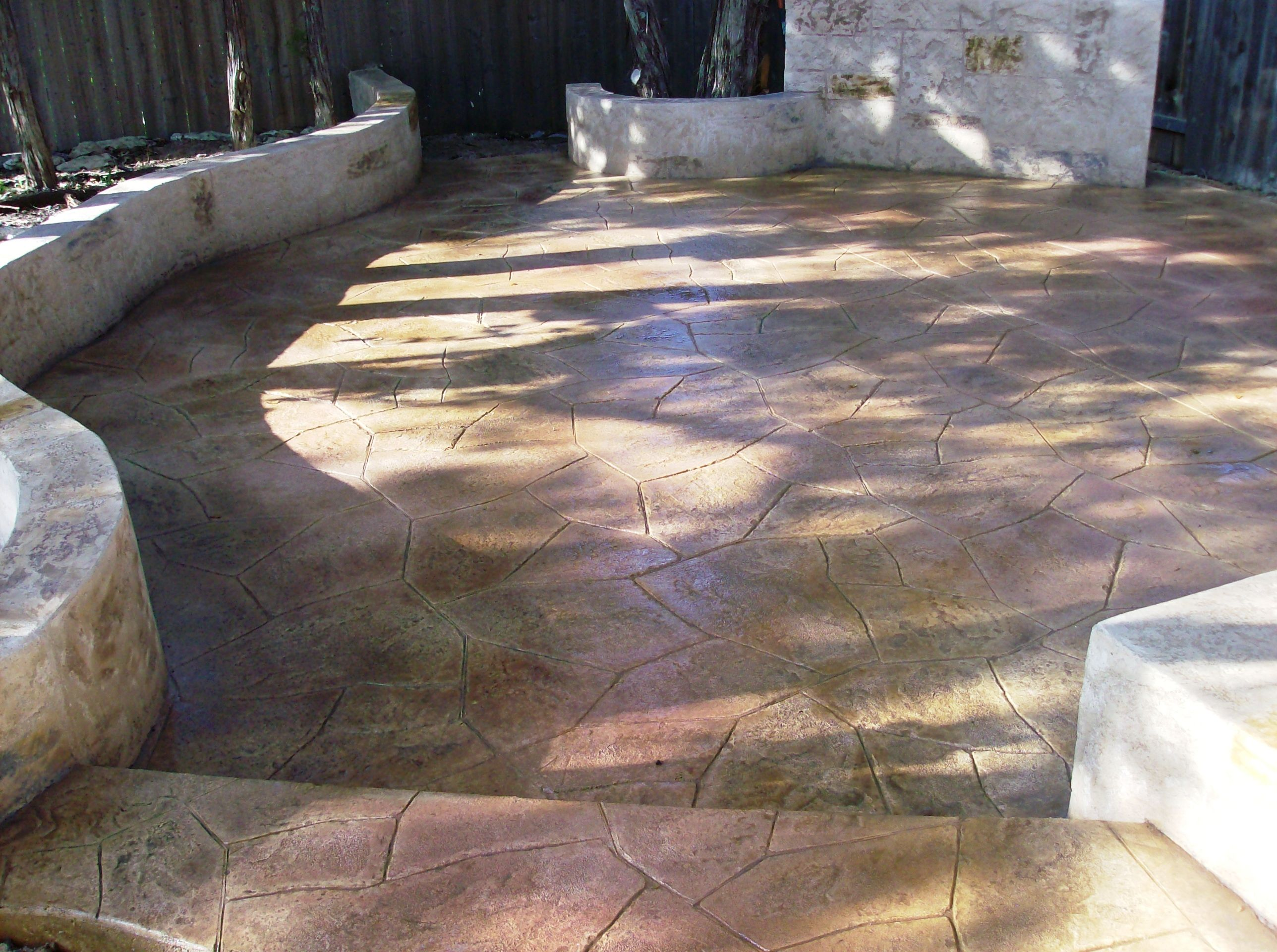 Share for Stained concrete patio pictures