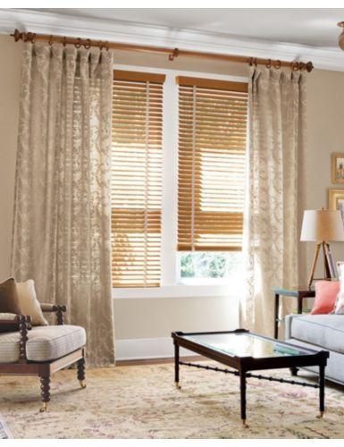 Smith noble 2 wood blinds in honey oak 4484 under soft for Noble windows