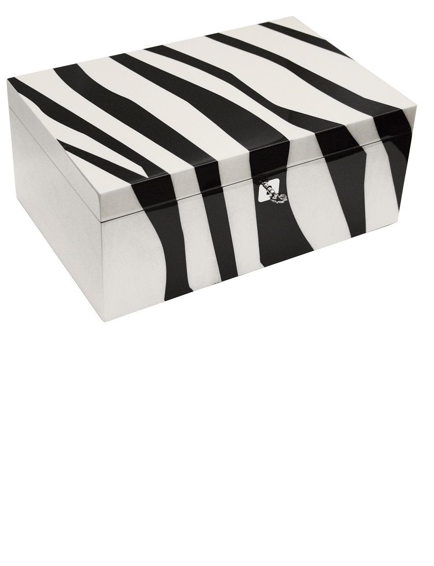 Black And White Decorative Boxes Luxury Christmas Gift Ideas Italian Designer Zebra Marquetry