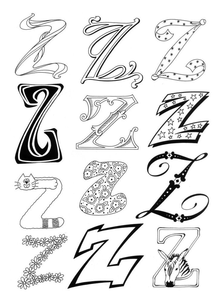 Designs With The Letter Z For Zoe Letters Numbers Words
