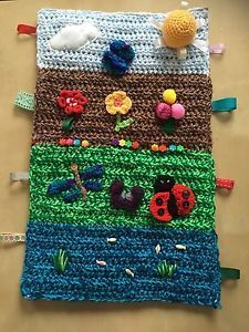 Image result for crochet fidget blanket