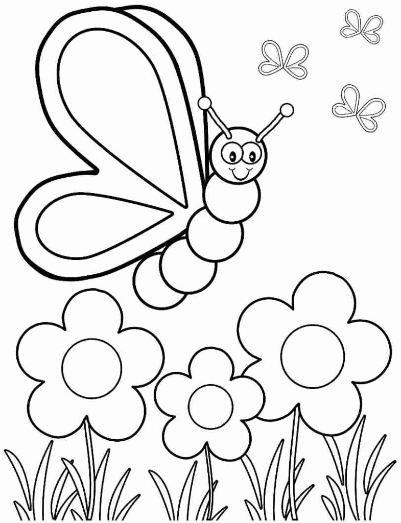 Animal Coloring Worksheets Pdf Beautiful Drawing For Kids Pdf Butterfly Coloring Page Spring Coloring Pages Spring Coloring Sheets