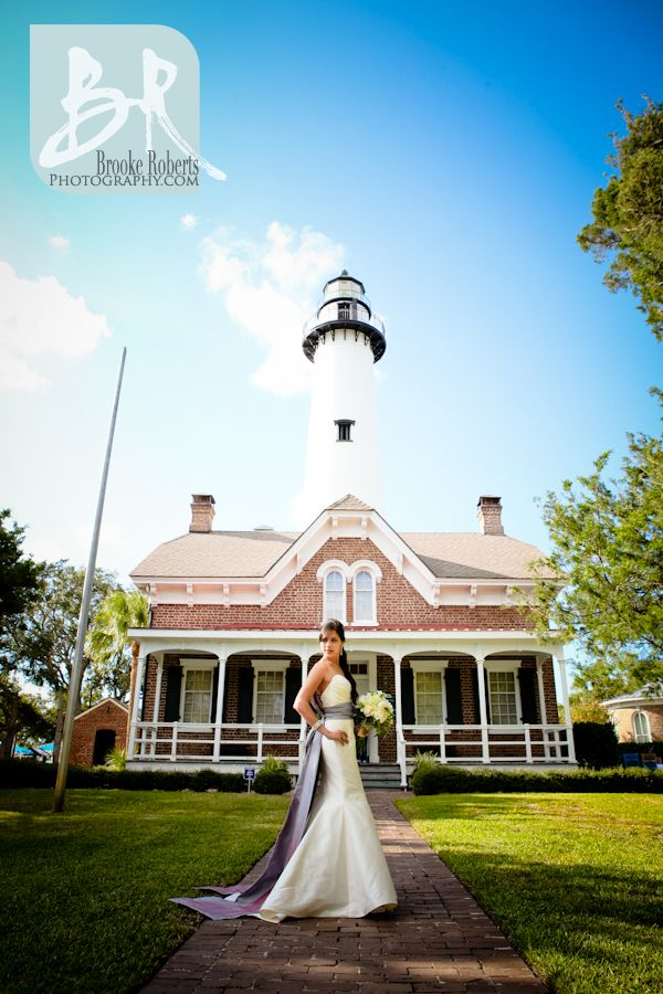 Simons Island Lighthouse And Heritage Center Wedding St Photographers