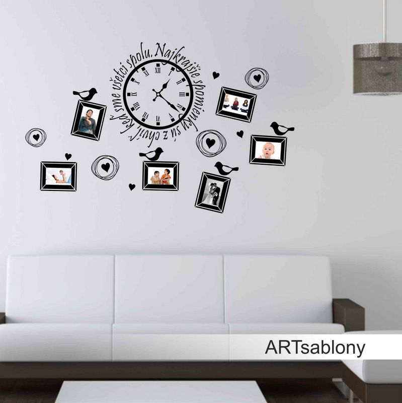 (3682n) Nálepka na stenu - Najkrajšie spomienky..   ARTSABLONY.SK