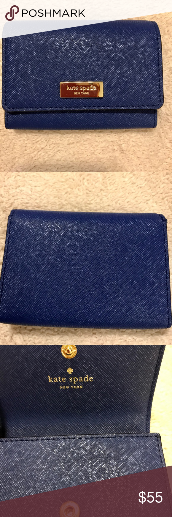 Kate Spade Business Card case Like new Blue business card or ...