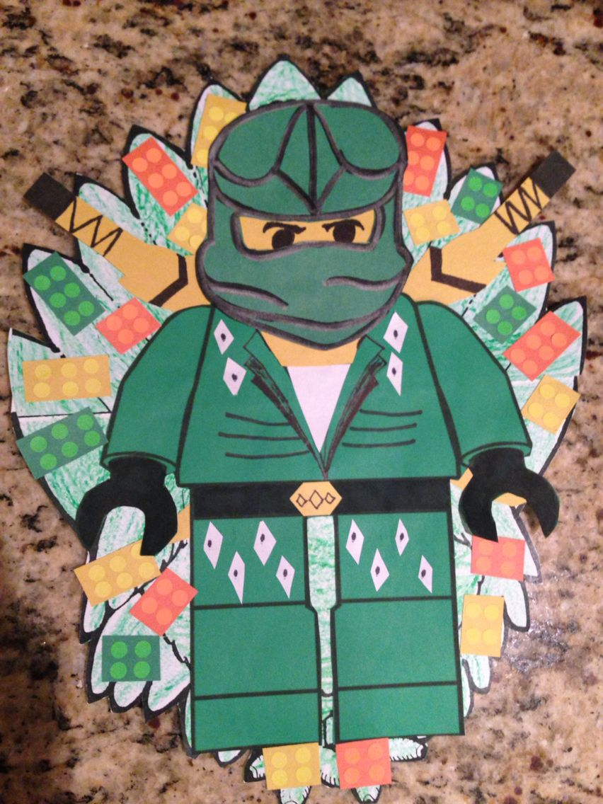 Turkey Disguise Idea Ninjago | Green Ninja Disguised Turkey ...
