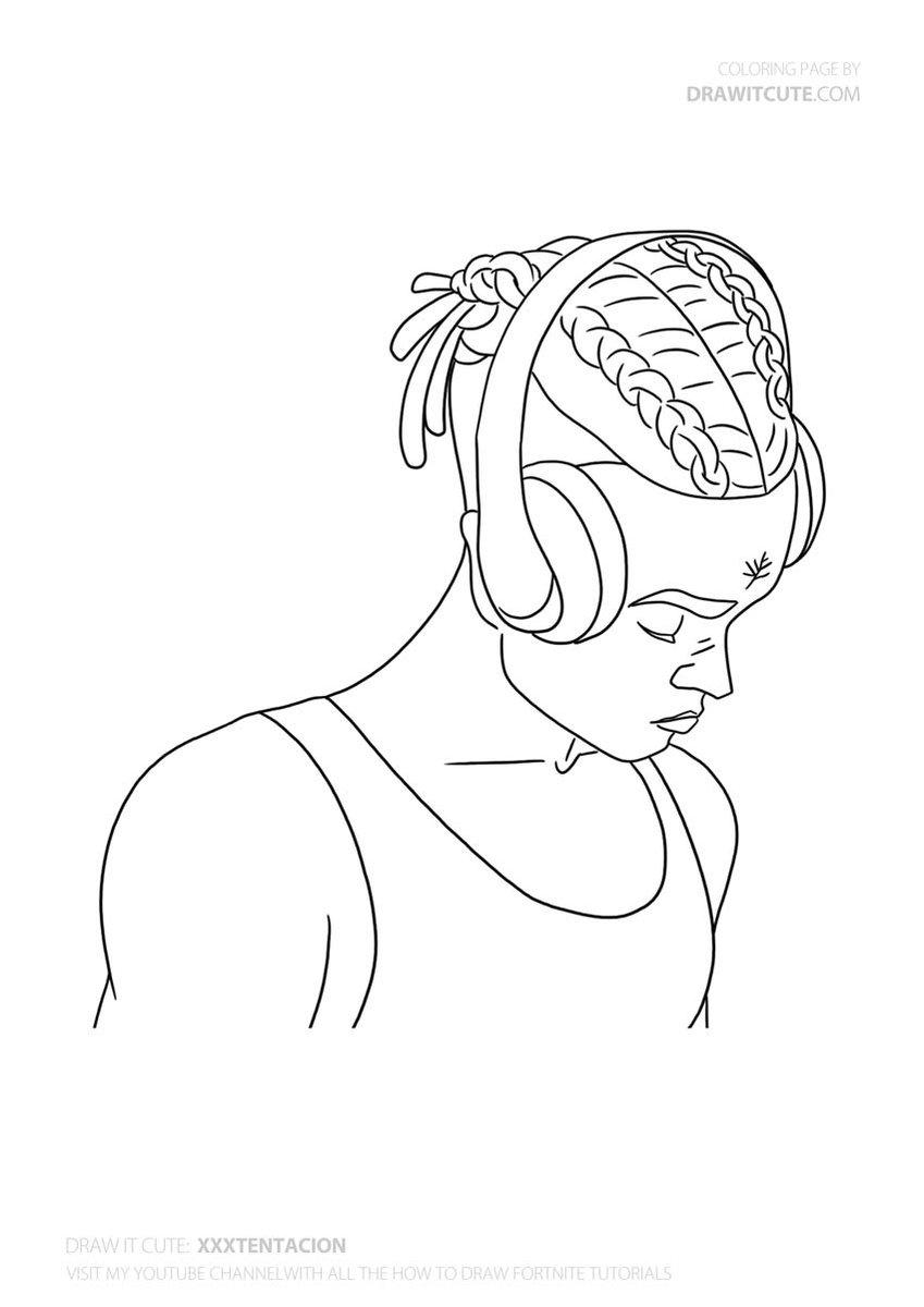 X Tentacion Tentacion Rap Fanart Drawings Coloringpages Art Drawings Sketches Simple Mini Canvas Art Cool Art Drawings