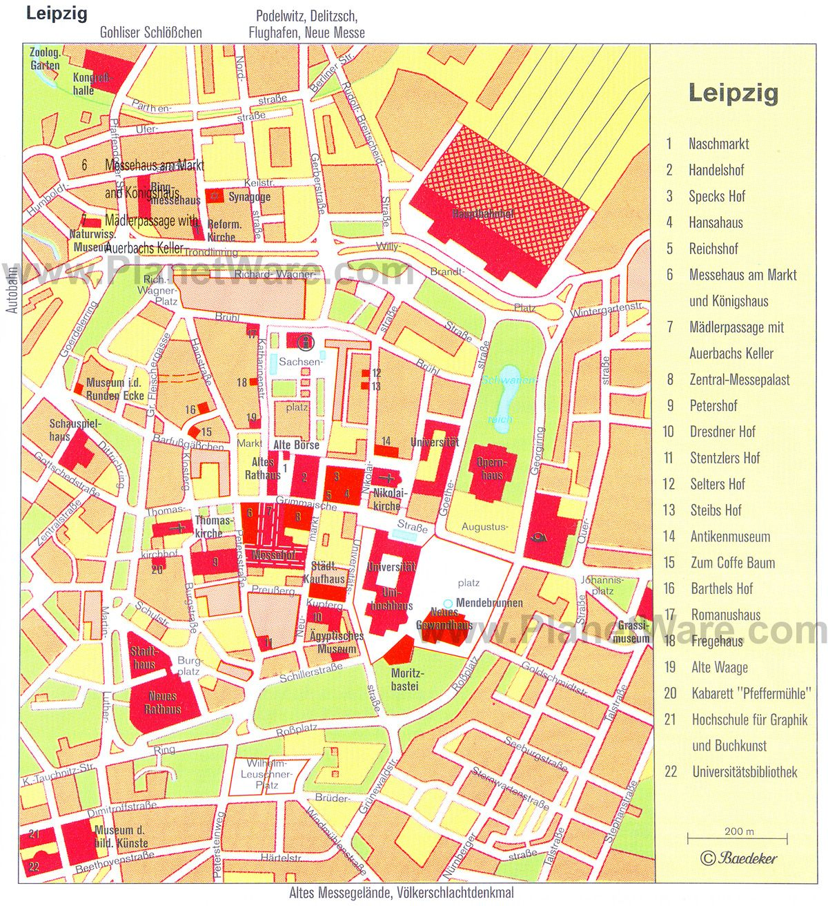 Map Of Leipzig Attractions PlanetWare Hair World Skills - Map of leipzig