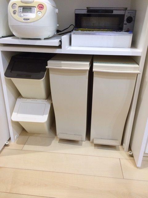 キッチンのゴミ箱増強 働くママの初めての戸建て生活 ゴミ箱
