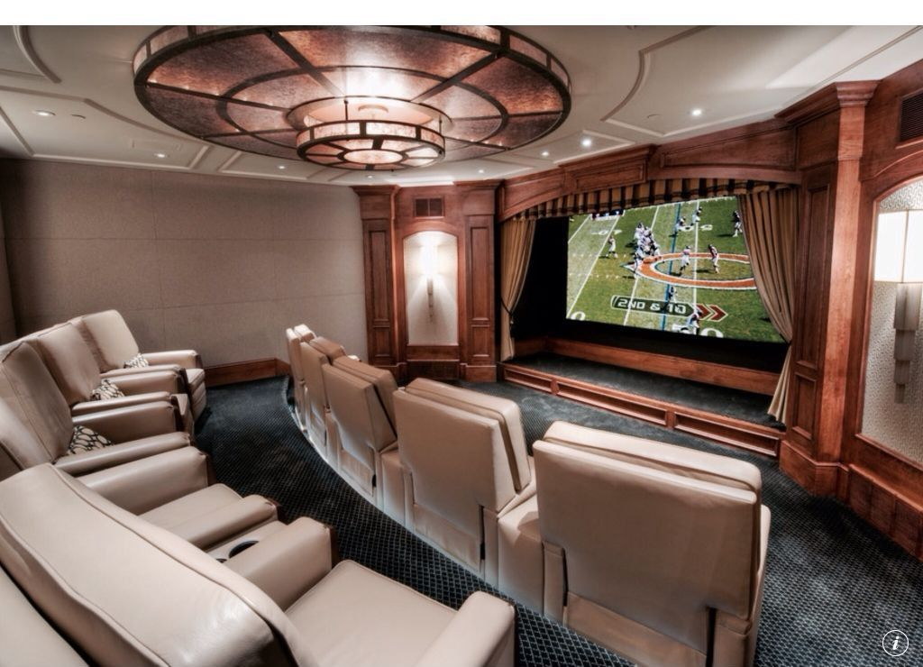 Traditional Home Theater - Found on Zillow Digs