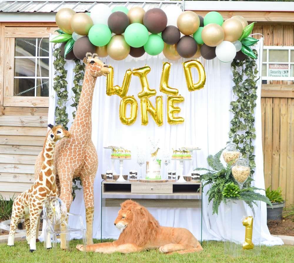 Wild One Birthday Party Ideas Photo 2 Of 15 Wild One Birthday Party Safari Birthday Party Animal Birthday Party