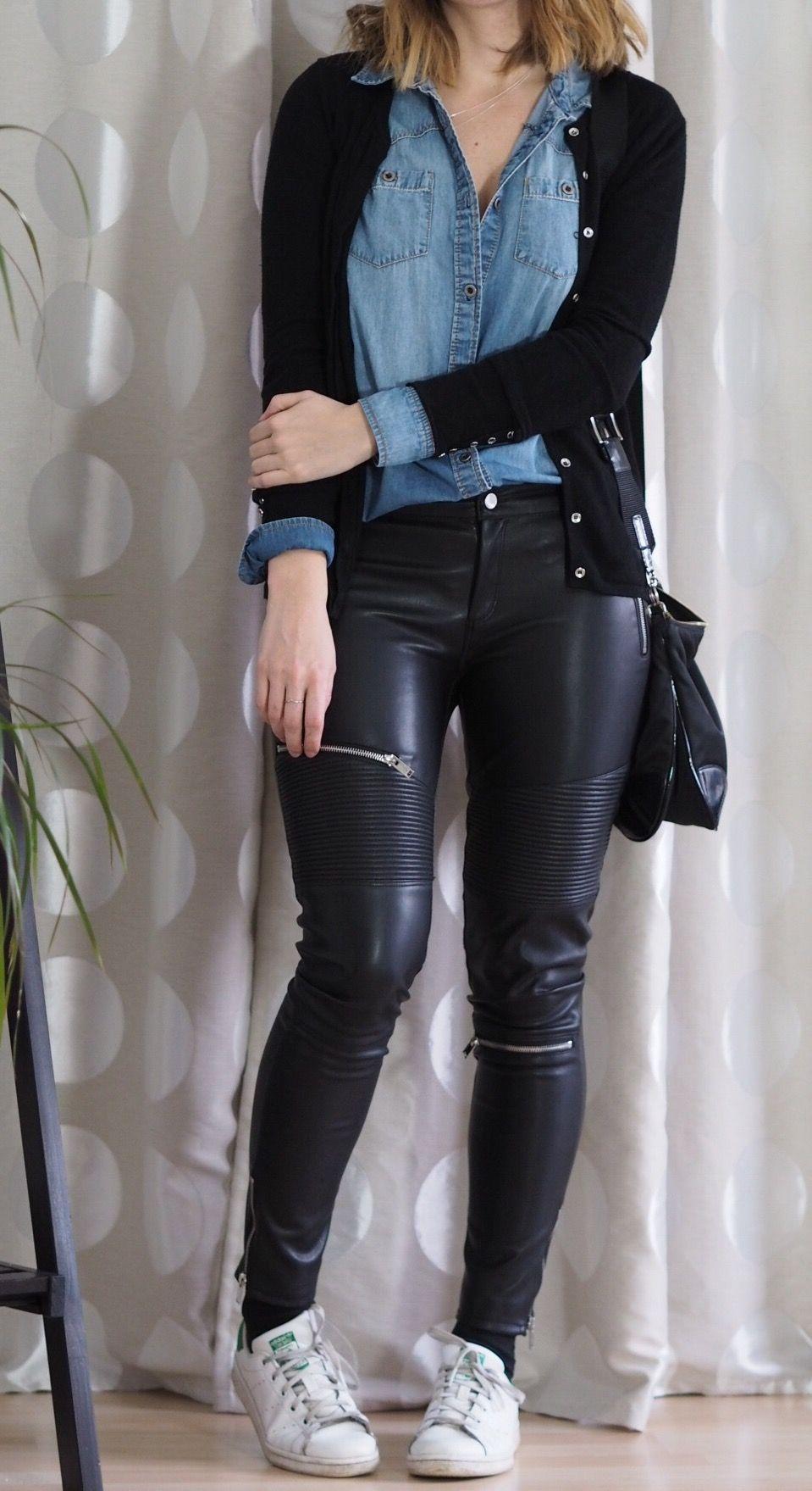Fang Größe 7 gemütlich frisch 8.8 Leder und Jeans | STYLE / My Capsule Wardrobe | Outfit ...