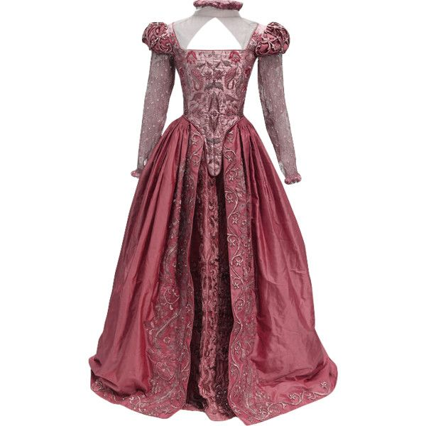 Shakespeare In Love Dress - edited by thestars-themoon ❤ liked on Polyvore featuring dresses, medieval, medieval gown and red dress