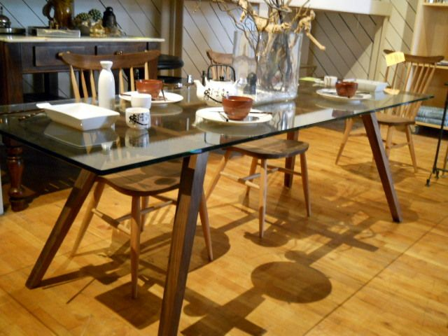 dining table wood base canted legs rectangular wood base w rh pinterest com