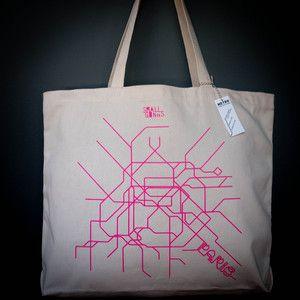 Paris Metro Organic Tote Bag
