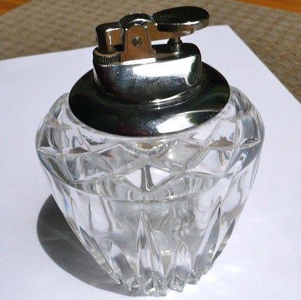 Vintage Crystal Cigar Desk Lighter