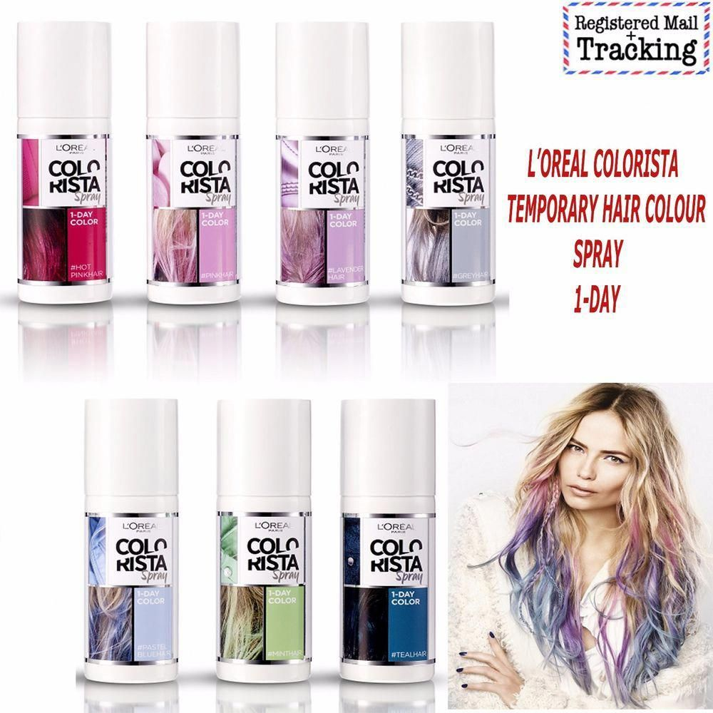 Loreal Colorista Temporary Hair Colour Spray 1 Day 75ml Hair Color Spray Loreal Colorista Temporary Hair Color Spray