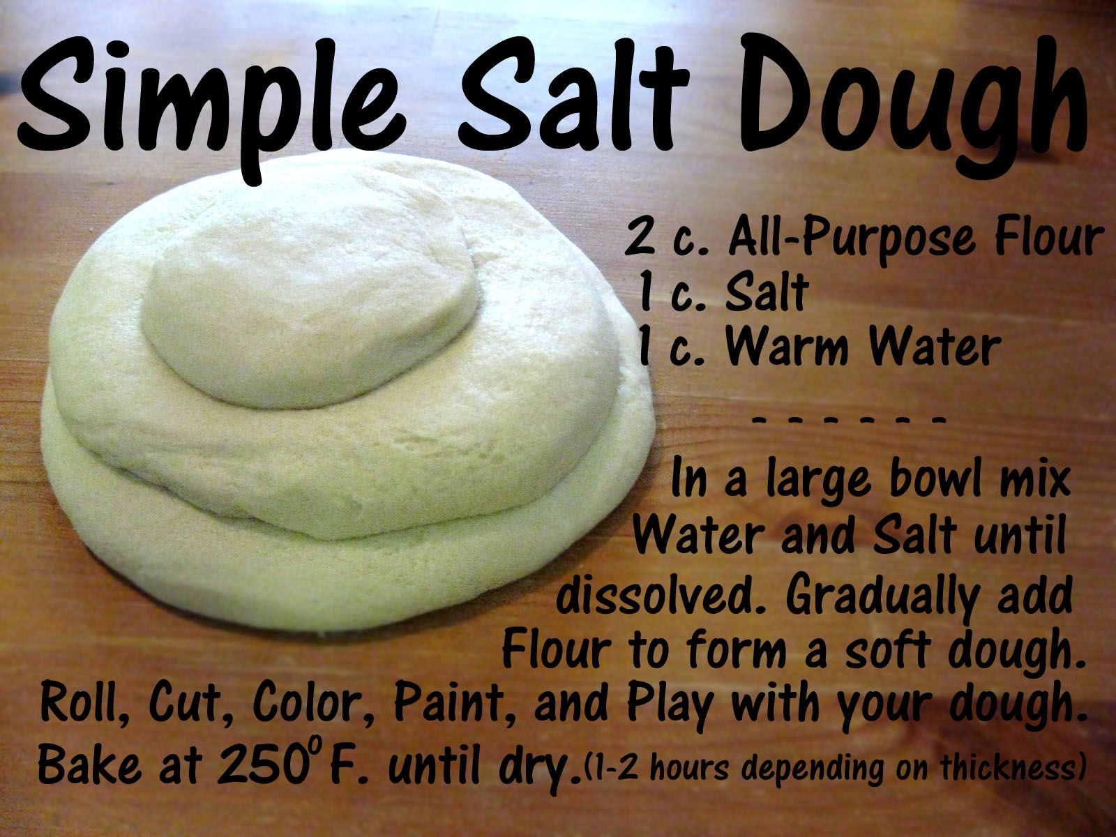 How to make oven bake clay without salt