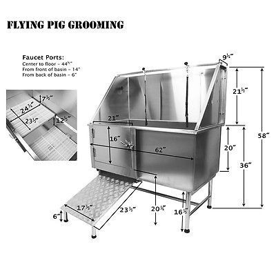 Details About Flying Pig Pro Stainless Steel Pet Dog Cat Wash