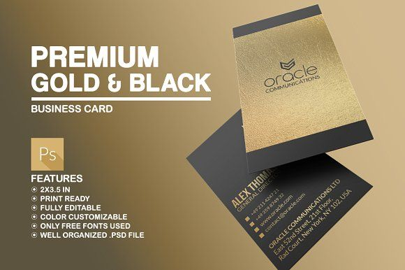 Premium gold and black business card black business card business premium gold and black business card by marvel on creativemarket colourmoves